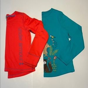 Under Amour & Lands End Girls Tops sz M